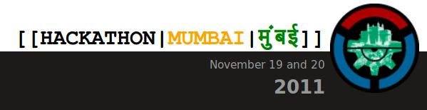 Mumbai Wikimedia Hackathon 2011