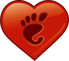 GNOME heart, thanks to Jeff Waugh